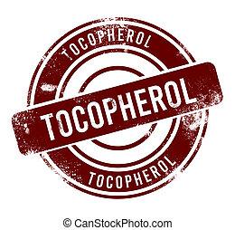 Tocopherol - red round grunge button, stamp