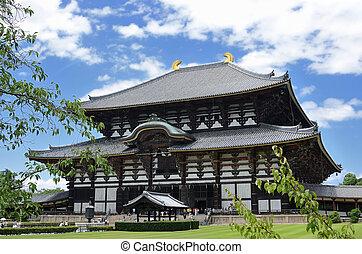 Todaiji Temple - Exterior of Todaiji, the world's largest...