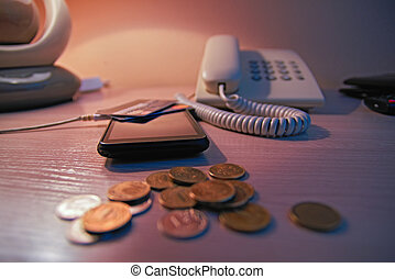 todavía, life., concept:, pago, para, el, uso, comunicación, services., comunicación, para, dinero.