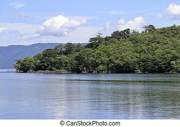 Todawa lake in Aomori, Japan (Nakayama peninsula)