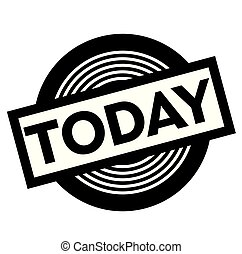 today black stamp on white background, sign, label