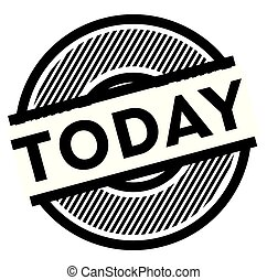 today black stamp on white background , sign, label