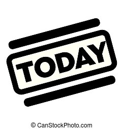 today black stamp on white background