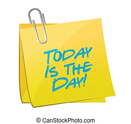 today is the day post yellow illustration design