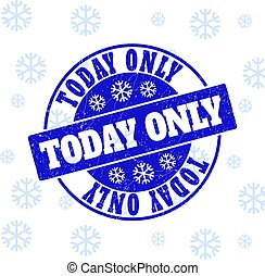 Today Only Scratched Round Stamp Seal for Xmas