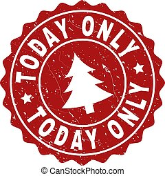 TODAY ONLY Scratched Stamp Seal with Fir-Tree