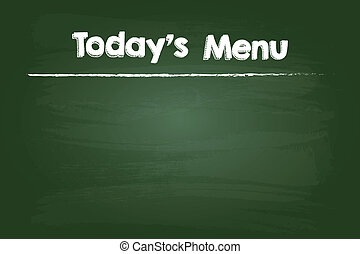 Today Restaurant Menu On Green Board