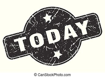 today round grunge isolated stamp