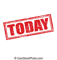Today-stamp - Grunge rubber stamp with word Today,vector...