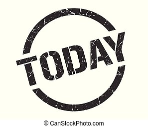 today stamp - today black round stamp