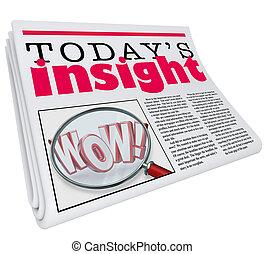 Today's Insight Newspaper Headline Information Update...