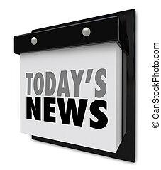 Today's News Calendar Update Information Important Alert