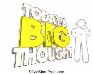 todays, pensare, grande, puzzle, idea, quotidiano, pensiero, persona, illustrazione, 3d