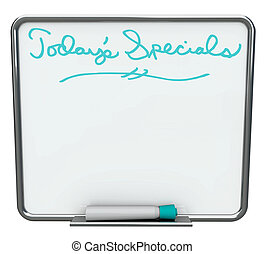 Today\'s Special - Blank White Dry Erase Board - A white dry...