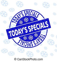 Today'S Specials Scratched Round Stamp Seal for Xmas