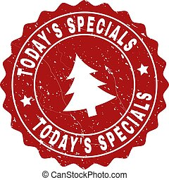 TODAY'S SPECIALS Scratched Stamp Seal with Fir-Tree