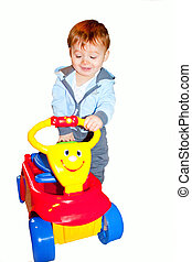 toddler and ride on wagon