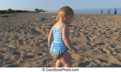Toddler at Beach 1