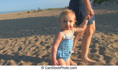 Toddler at Beach 2