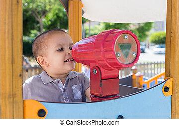 Toddler at playground