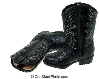 Toddler Boots - Pair of black toddler cowboy boots shot on ...