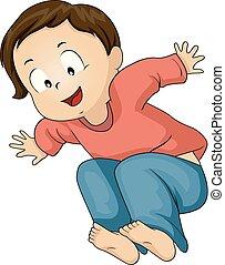 Toddler Boy Broad Jump Illustration - Illustration of a Kid...