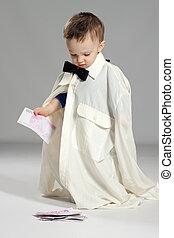 Toddler boy businessman