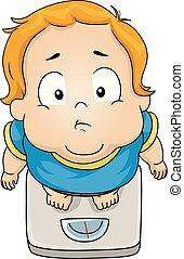 Toddler Boy Obese Illustration