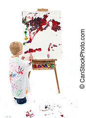 Toddler Boy Painting