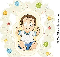 Toddler Boy Protect Virus Immune System