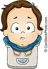 Toddler Boy Underweight Illustration
