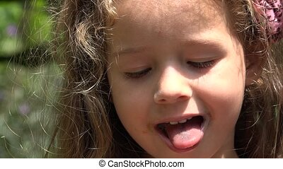 Toddler Girl With Lollipop