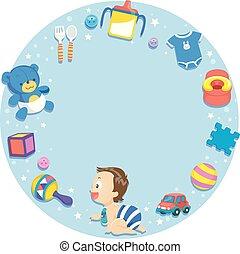 Toddler Kid Frame Illustration