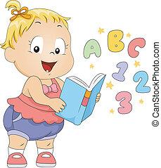 toddler, livro