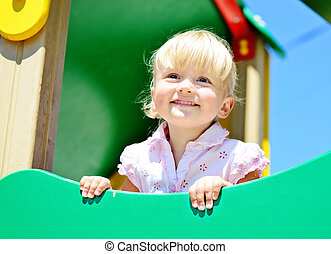 toddler on playground