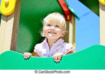 toddler on playground