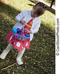 toddler, op, oostelijkere ei jacht