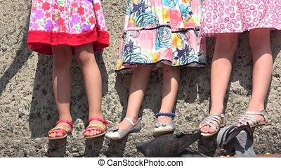 Toddler Or Preschooler Girls Standing