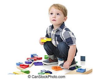 Toddler Playing Blocks