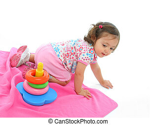Toddler playing with generic toy