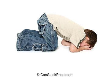Toddler Tantrum - Child sulking or throwing a tantrum.