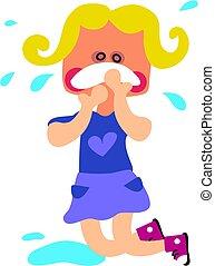 Toddler Tantrum - little girl having a tantrum