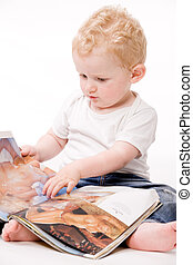 Toddler with big man dreams - Cute caucasian blond toddler...