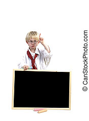 Toddler with black-board for you to write on!