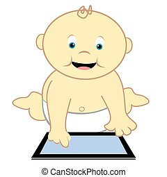 Toddler With Computer Tablet