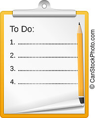 ToDo List - Clipboard with todo list, vector eps10...