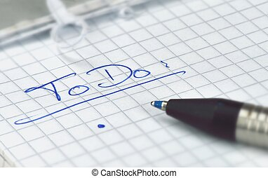 ToDo list - Create a todo list