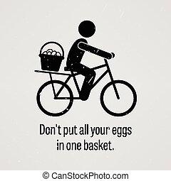 todos, bas, huevos, uno, no, puesto, su