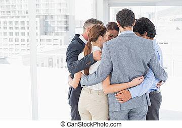todos, equipo, empresa / negocio, juntos, apiñado