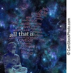 todos, eso, es, profundo, espacio, plano de fondo